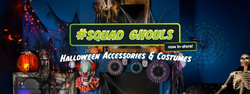 Get ready for Halloween here at B&M Stores #SquadGouls